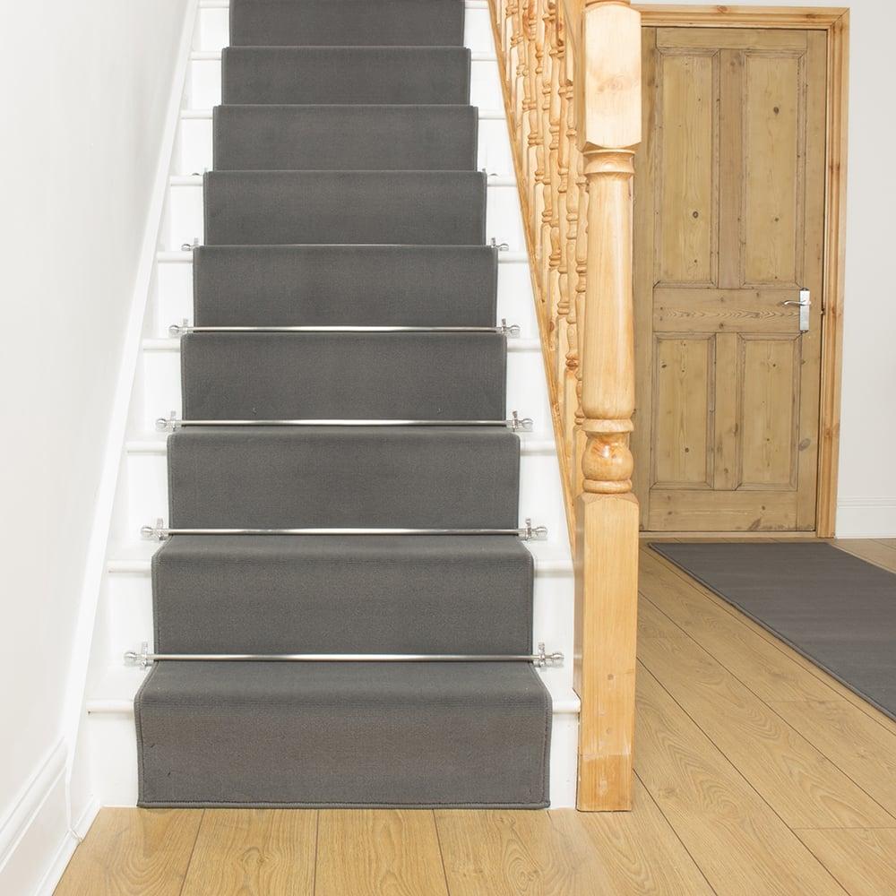 stair runners plain light grey stair runner EPIQOLG