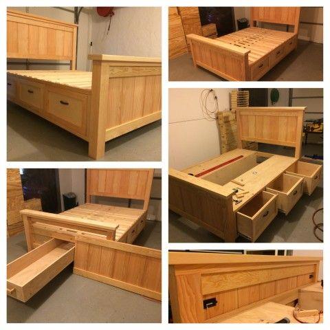 storage beds farmhouse storage bed with hidden drawer QLRUPBF