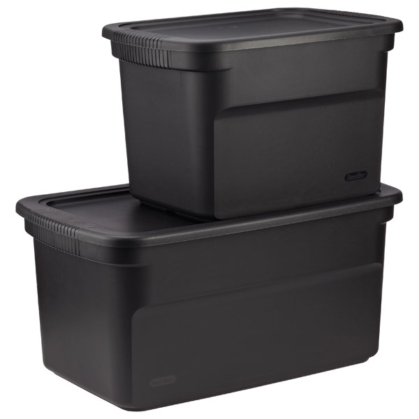 storage boxes black tote boxes ... PTWETEX