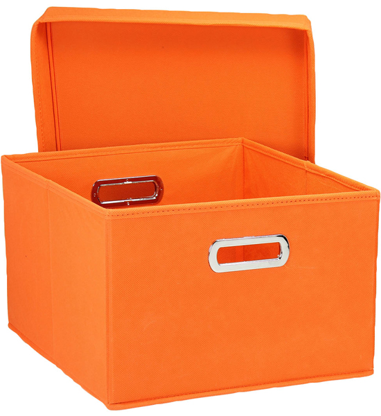 storage boxes home storage box - orange (set of 2) image FOGZODP
