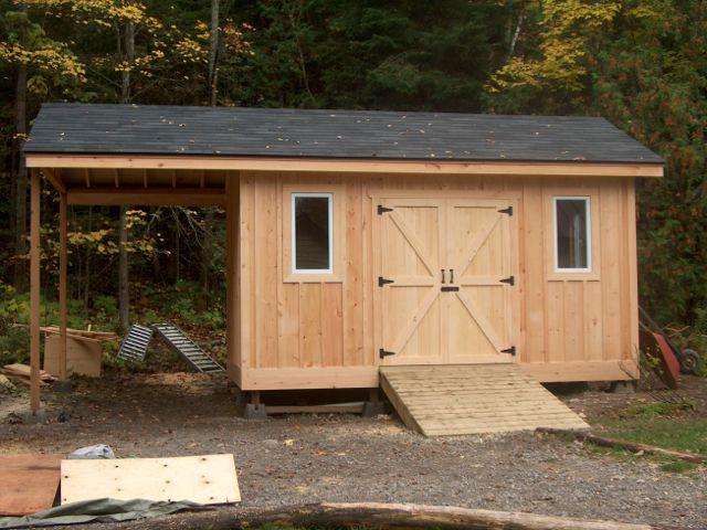storage sheds a 8u0027 x 12u0027 garden u0026 storage shed with an 8u0027 overhang for FYSUQKW