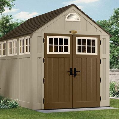 Wooden, vinyl or metallic storage sheds