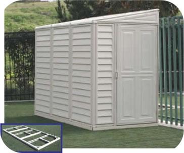 storage sheds sidemate 4x8 vinyl shed w/ floor kit LUTCLSO