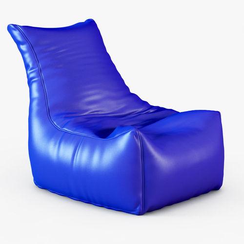 style homez royal blue chair bean bag 3d model ZKVGBNY