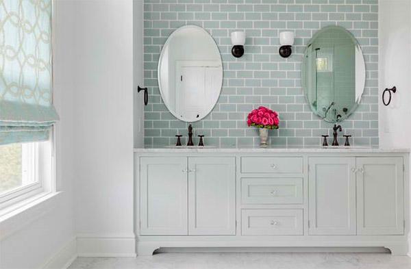 subway tile bathroom beach house- master bath. domesticated engineer. light gray subway tiles ... VITZIRQ