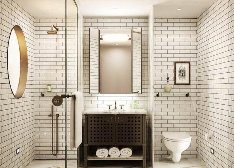 subway tile bathroom clean and crisp outlook is a courtesy of the white subway tiles that KHDRMGZ