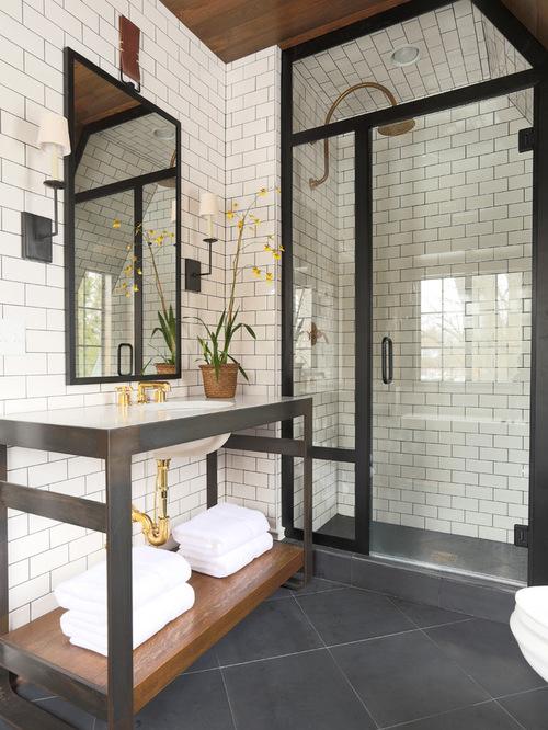 subway tile bathroom saveemail. eclectic bathroom APDEMCT