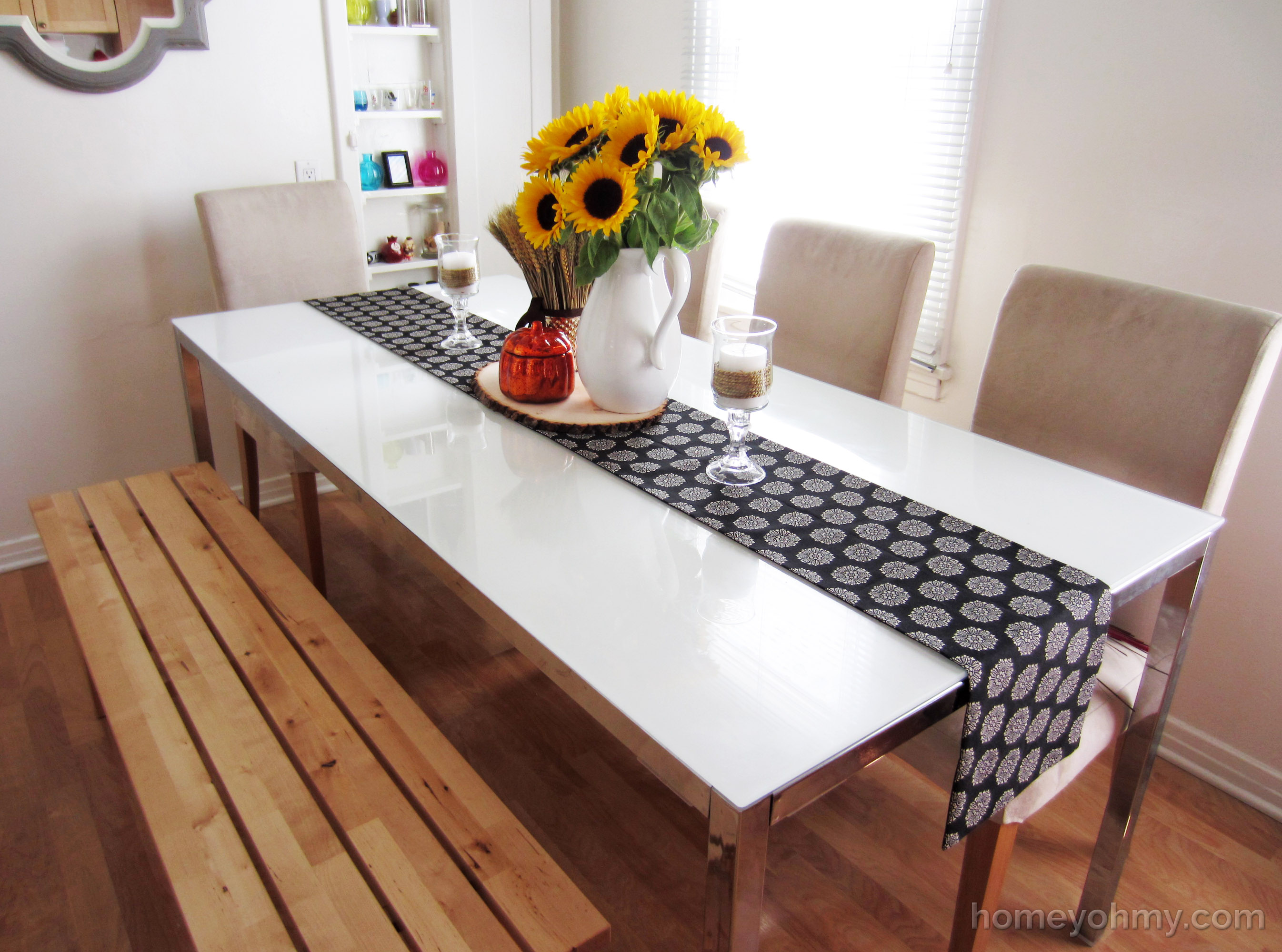 table runners diy no sew table runner 4 OGJKXGP