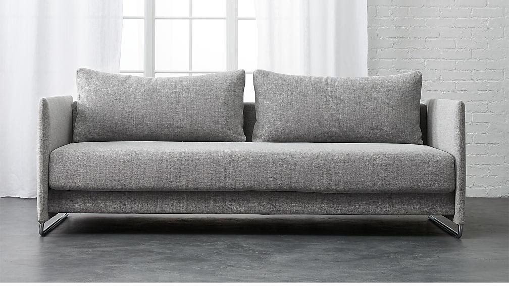 tandom microgrid grey sleeper sofa ... YFPSPBU