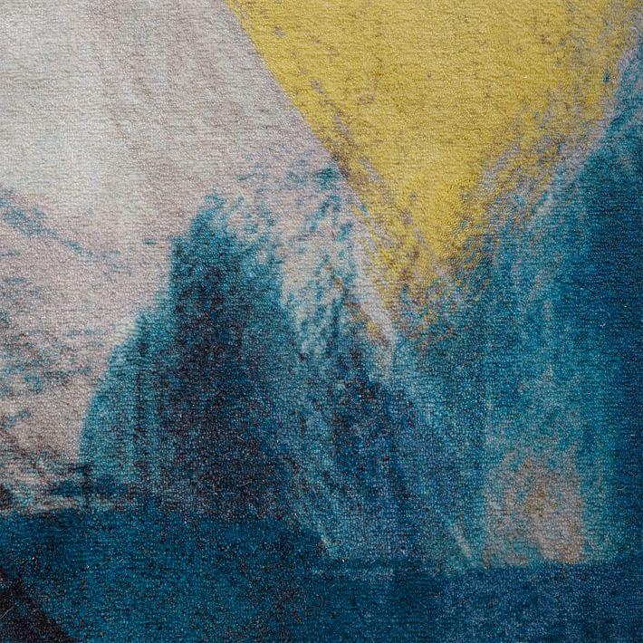 teal rug expressionist printed rug - teal | west elm WWDPRIH