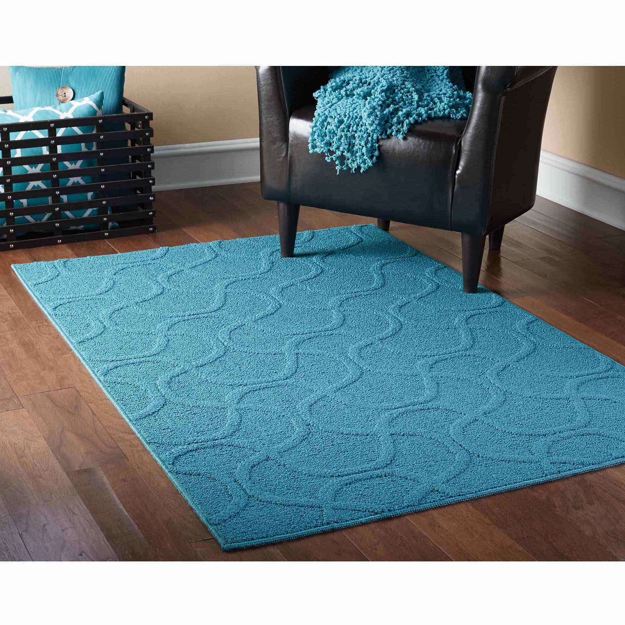 teal rug mainstays drizzle area rug, teal - walmart.com HNHKNTL