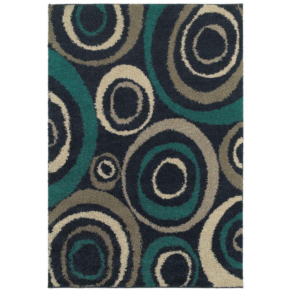 teal rug orbit teal 7 ft. 10 in. x 10 ft. area rug KJHTQQG