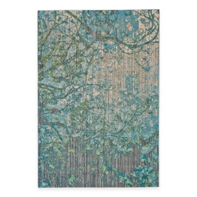 teal rugs feizy keaton branch 5-foot 3-inch x 7-foot 6-inch MEBYOSX