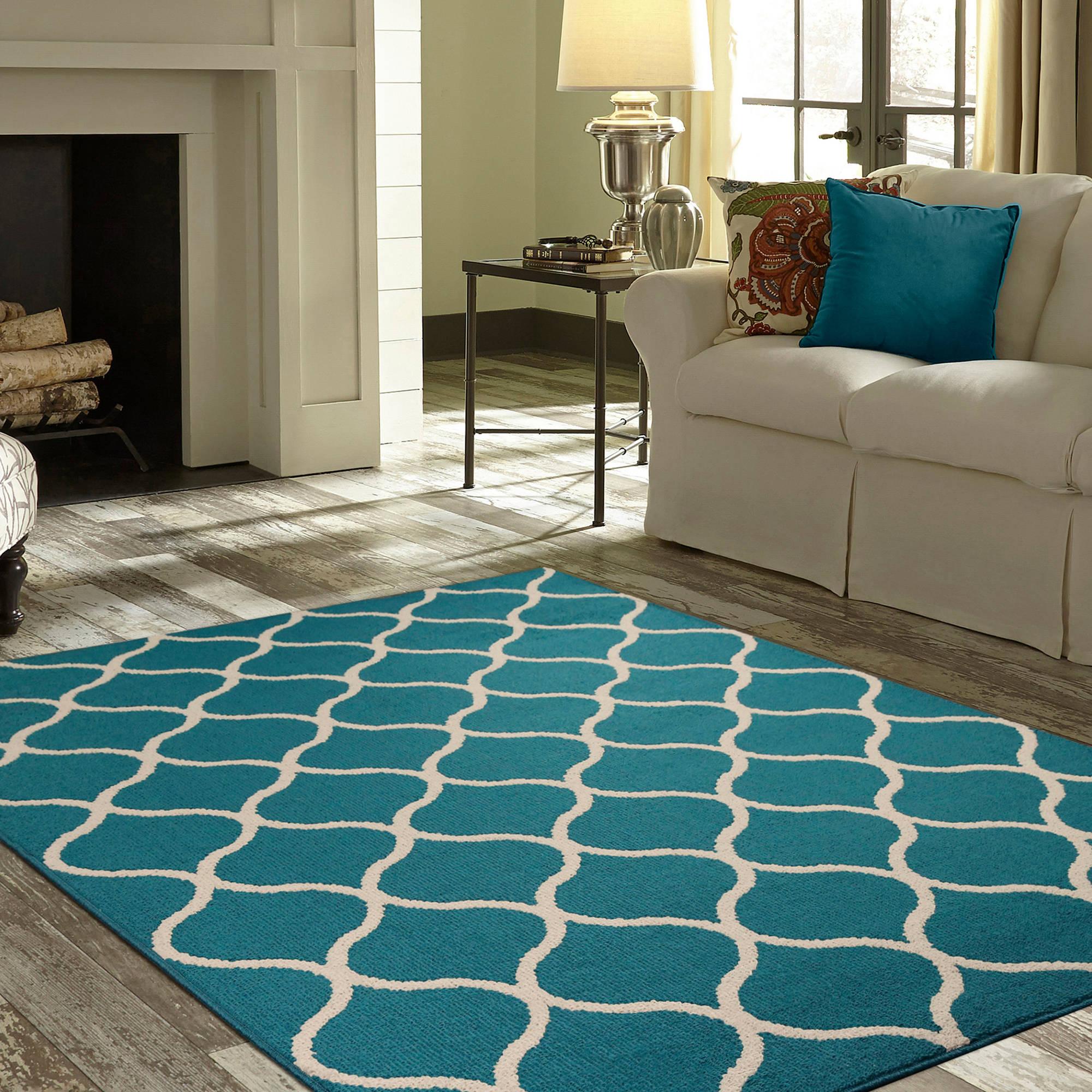 teal rugs mainstays sheridan area rug or runner RJBMFGW
