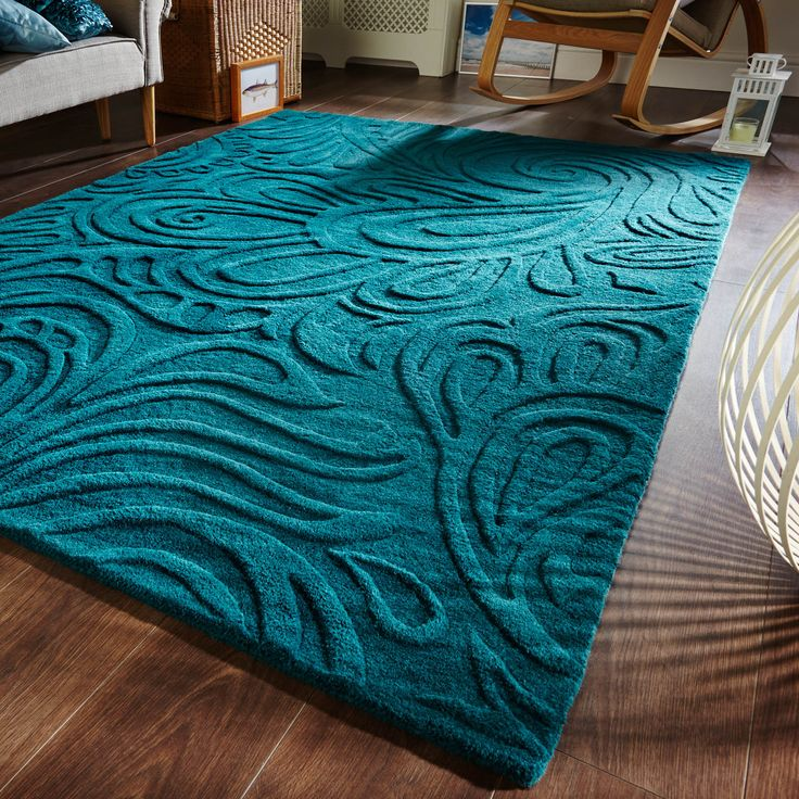 Choose teal rug for your beautiful house