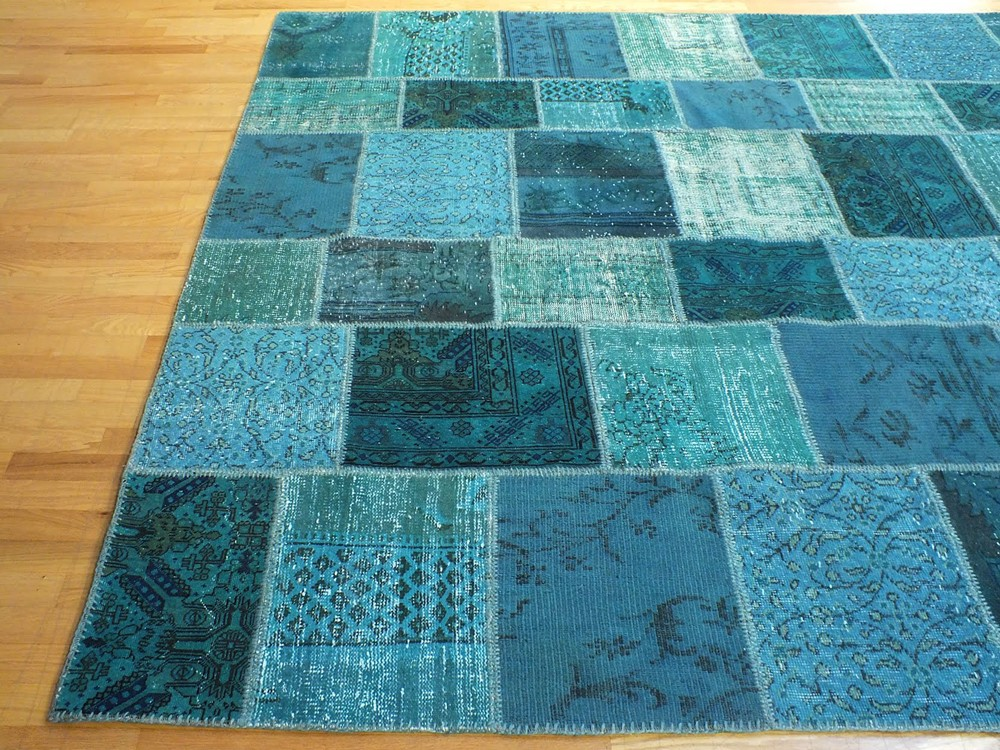 teal rugs with variations make your place cool WBWHDBV