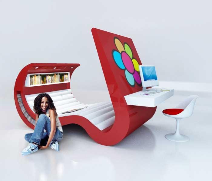 teen furniture beautiful hi-tech teenage furniture - freshome.com KMMOOVM