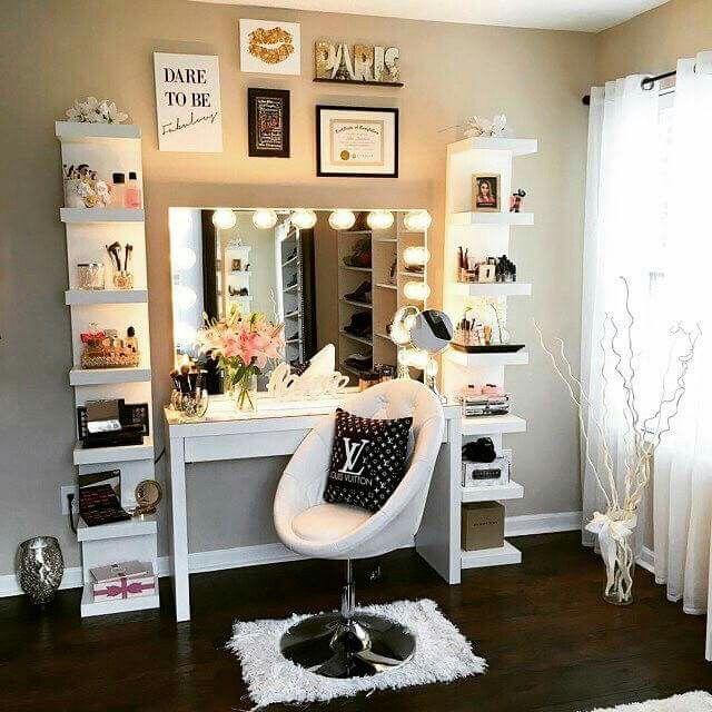 teenage bedroom ideas makeup room inspiration more · girls bedroom ideas ... OXPBHYR