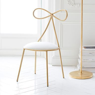 the emily u0026 meritt bow chair #pbteen the perfect vanity chair! STULNVE