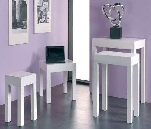 theme your furniture with white gloss furniture looks HIOPOZC