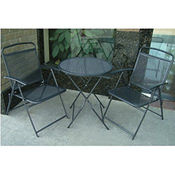 this item benefitusa 3 piece bistro patio set table and chairs outdoor GVFYVLG
