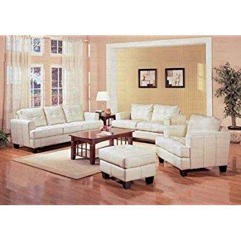 this item coaster samuel collection cream leather sofa UQXNKFH
