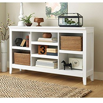 this item threshold carson horizontal bookcase, white finish VOOWLIL