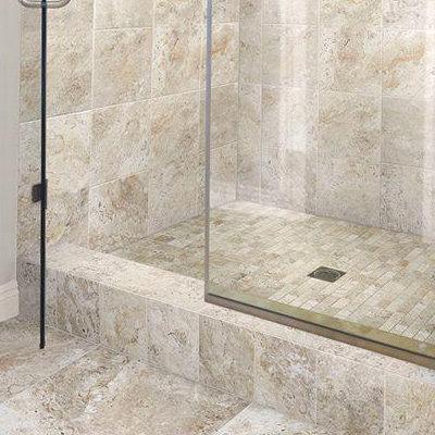 tile bathroom stone look MZYOMQO
