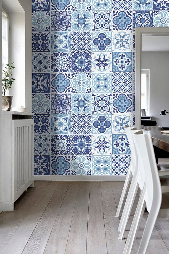 tiles for bathroom portuguese blue - tile stickers - tile decals - kitchen backsplash - tiles QSIUPXA