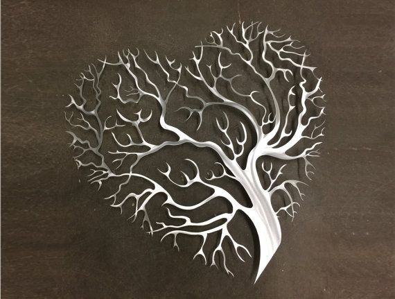 tree heart metal wall art - tree metal wall art - abstract wall DKKMYYP