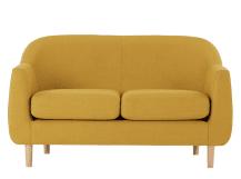 tubby 2 seater sofa, retro yellow HPVJHSO