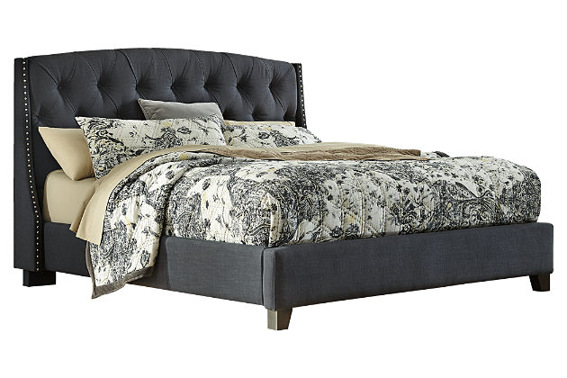 tufted bed bedroom furniture on a white background PFVSBEG