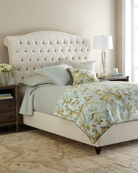 tufted bed harper tufted ivory velvet queen bed XHQNTUT