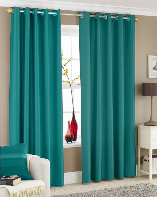Turquoise curtains are the best
