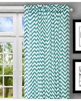 turquoise curtains ellis curtain reston chevron stripe tailored panel curtain, 50 x 63,  turquoise PTZJFYT