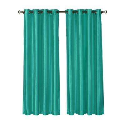 turquoise curtains l grommet curtain panel pair, turquoise (set of UEYFZNC