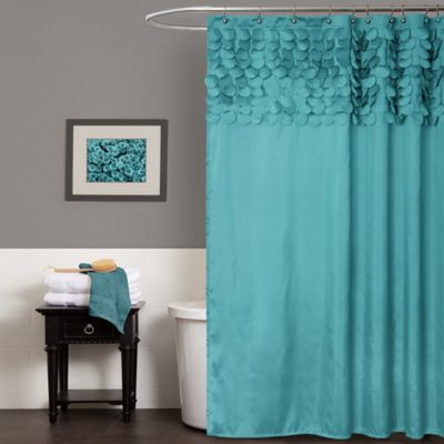 turquoise curtains lillian shower curtain in turquoise BMUHYEN