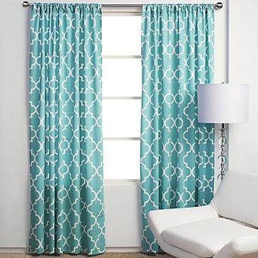 turquoise curtains  PBVSZEA