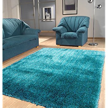 turquoise rug shaggy viscose solid collection, turquoise solid area rug, hand tufted,  approximate size JDGSTDV