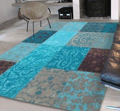turquoise rug vintage 8105 turquoise rugs - buy online at modern rugs uk XDDSUIJ