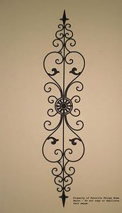 tuscan wrought iron wall decor - can be hung vertically or horizontally. AOPWPRM