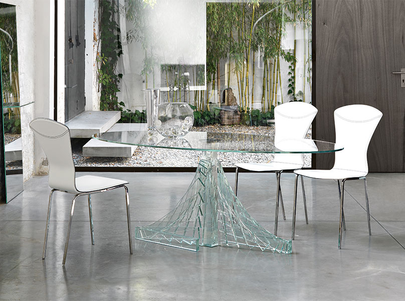 unique glass dining table TGWOQLI