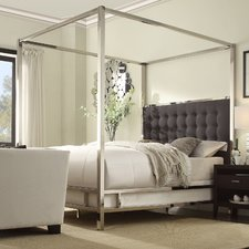 upholstered canopy bed OORDKTQ