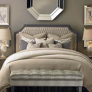upholstered headboard hgtv® home custom uph beds florence clipped corner headboard GSCAHDM