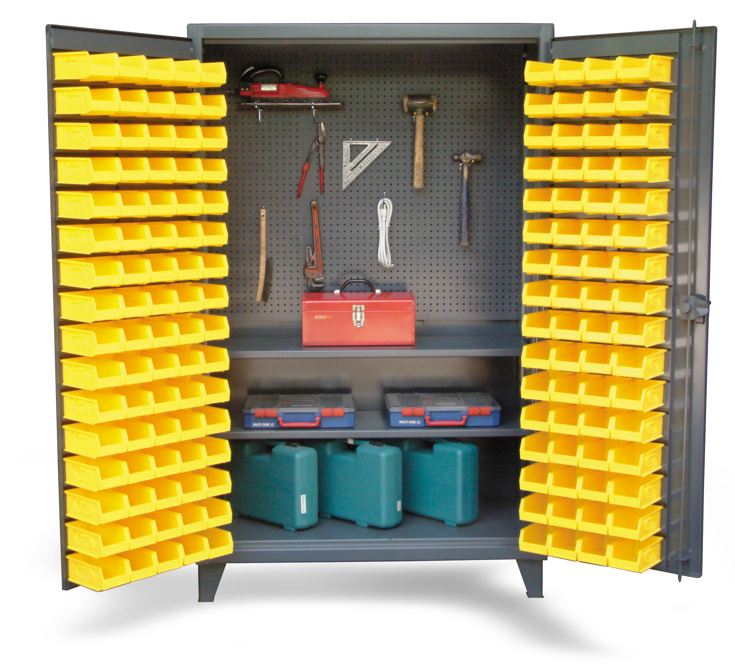upright tool storage bin cabinet - bin cabinet with pegboard back and ACOABIN