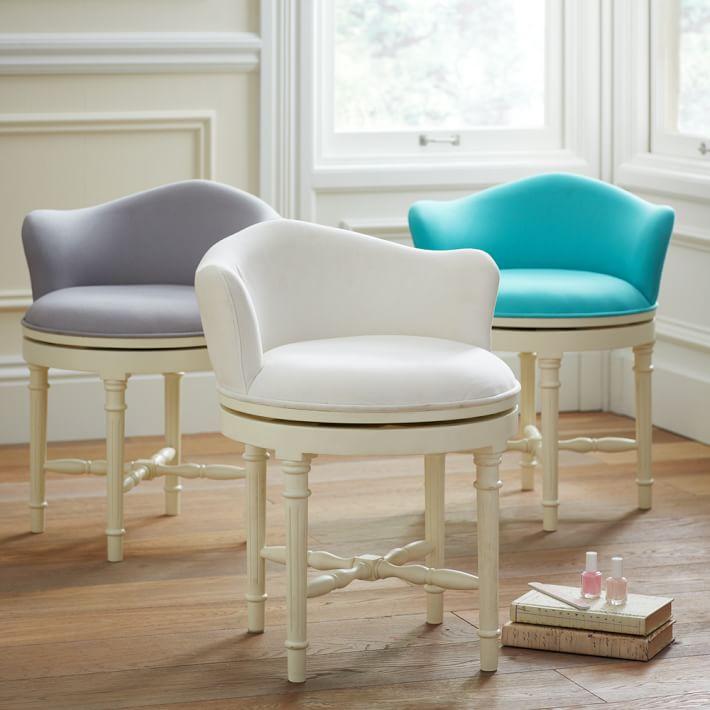 vanity chair minnie vanity stool   pbteen YMGIFSE