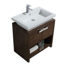 vanity sinks kubebath - wyatt vanity, rosewood, 30 KROQFVE