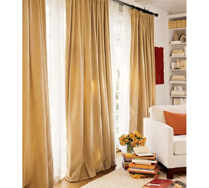 The magnificence of velvet drapes