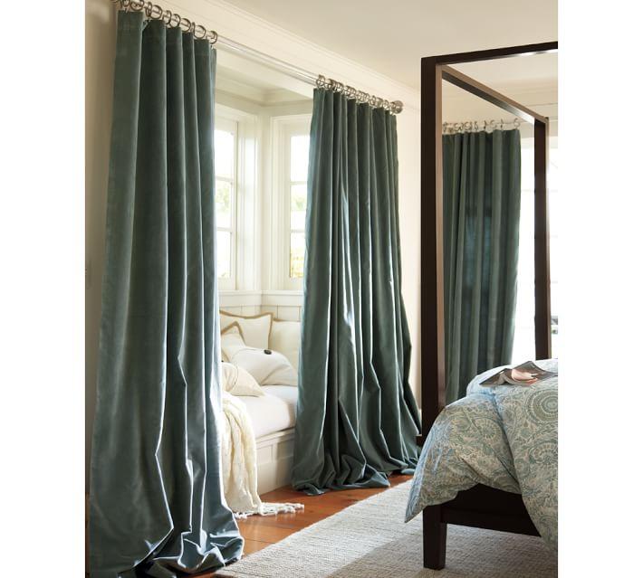 velvet drapes velvet drape | pottery barn WXMLXFE