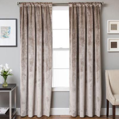 velvet drapes velvet rod pocket/back tab 63-inch lined window curtain panel in walnut AQGHOIW